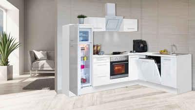 RESPEKTA Winkelküche »RP260«, mit E-Geräten, Breite 260 cm