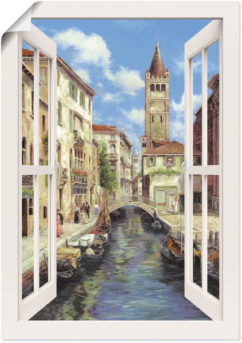 Artland Wandbild »Venedig«, Venedig (1 Stück), in vielen Größen & Produktarten - Alubild / Outdoorbild für den Außenbereich, Leinwandbild, Poster, Wandaufkleber / Wandtattoo auch für Badezimmer geeignet