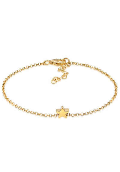 Elli Silberarmband »Armband Erbskette Stern Anhänger Astro Basic, 0212961219, 0212141219«