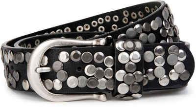 styleBREAKER Nietengürtel »Vintage Nietengürtel« Vintage Nietengürtel