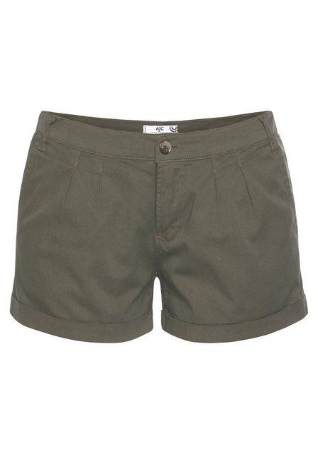 Hosen - AJC Hotpants mit Raffung vorne › grün  - Onlineshop OTTO