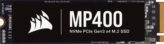 Corsair »MP400 2TB NVMe PCIe Gen3 x4 M.2 SSD« interne SSD (2 TB) 3480 MB/S Lesegeschwindigkeit, 3000 MB/S Schreibgeschwindigkeit)
