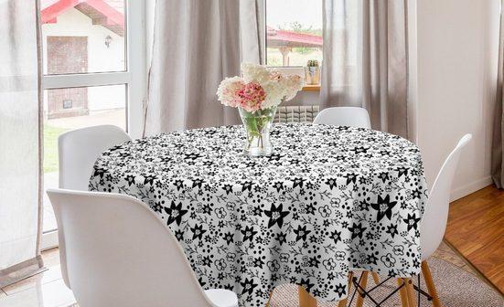 Abakuhaus Tischdecke »Kreis Tischdecke Abdeckung für Esszimmer Küche Dekoration«, Blumen Blooming Petals Hand gezeichnet