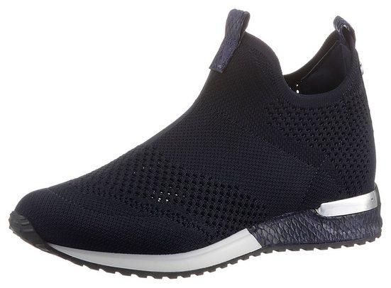 La Strada »Fashion Sneaker Slip On« Slipper mit Metallicapplikation am Absatz