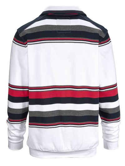 Babista Sweatshirt mit garngefärbtem Streifendessin