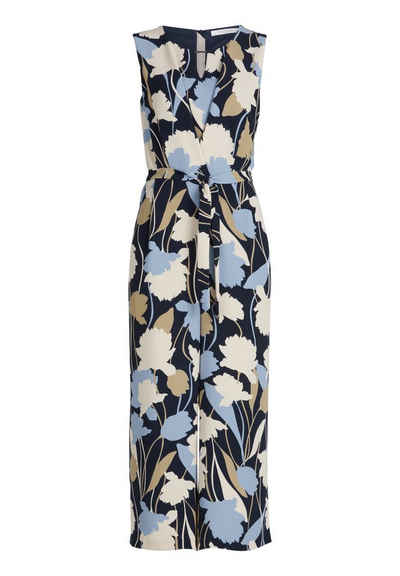 Betty&Co Jumpsuit »mit Blumenprint« Falten
