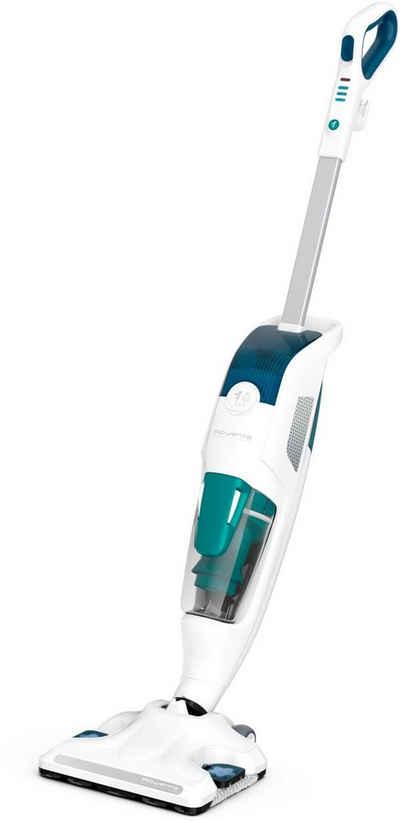 Rowenta Dampfreiniger + Staubsauger Clean&Steam Revolution RY7757, 1500 Watt, beutellos, 2-in-1 Böden wischen und saugen, 1500 Watt, Weiß