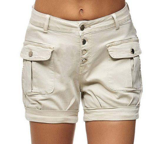 Egomaxx Jeansshorts »2809« Damen Chino Shorts mit Fronttaschen