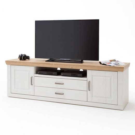 Lomadox Lowboard »BRASILIA-05«, TV-Schrank Landhausstil in Pinie Aurelio Nb. & Grandson Oak Nb. - B/H/T: 198/63/52cm
