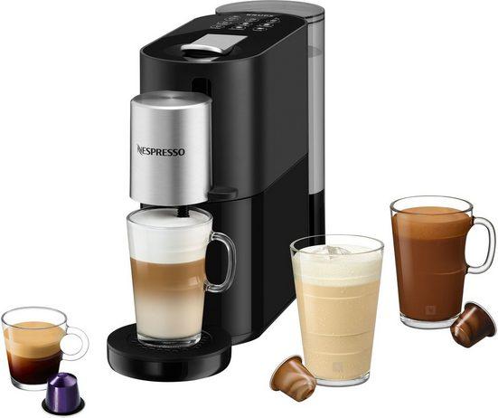 Nespresso Kapselmaschine XN8908 Atelier, inkl. Nespresso Glastasse & Kapseln, Heiße & kalte Getränke