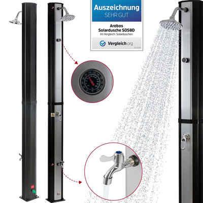 Arebos Solardusche »35 L mit Thermometer« (Solardusche), Solardusche 35 L mit Thermometer,Höhe der Dusche: 216 cm