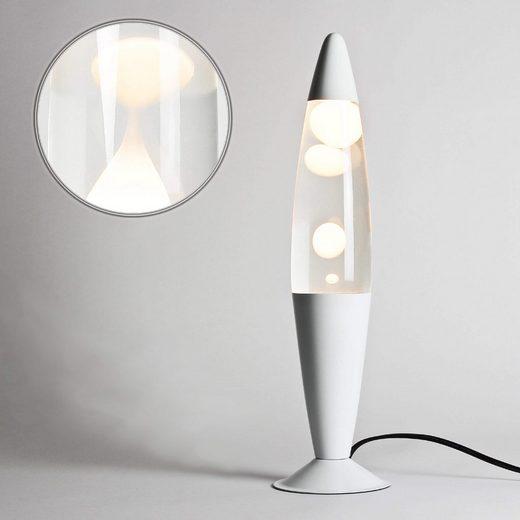 Licht-Erlebnisse Lavalampe »TIMMY Retro Lampe Weiß Retro Lampe Lampe«