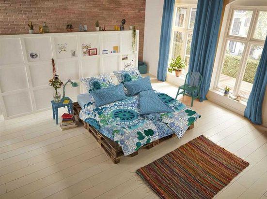 Bettwäsche »Blue«, hip, hochwertige Mako Satin Qualität