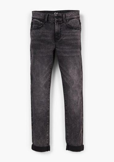 s.Oliver 5-Pocket-Jeans »Slim: Jeans mit Waschung« Waschung, Destroyes