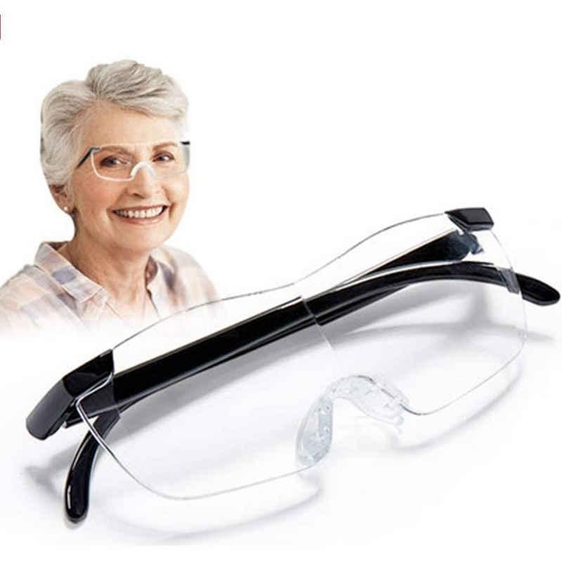 Favson Lupenbrille »Lupenbrille als Lesehilfe und Sehhilfe,Vergrößerungsbrille 160% Hände Frei Verzerrungsfreier Leselupe inklusive Zubehör in Vollausstattung Randlose Vorsetzbrille für Damen und Herre«