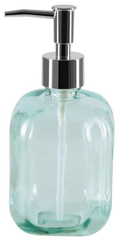 spirella Seifenspender »CARLOS«, 100% recyceltes Glas, extra großes Volumen, 500 ml