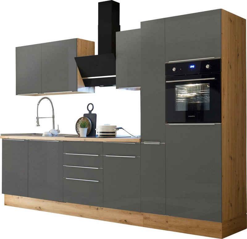 RESPEKTA Küchenzeile »Safado«, mit 2 E-Geräte-Sets zur Auswahl, hochwertige Ausstattung wie Soft Close Funktion, schnelle Lieferzeit, Breite 310 cm