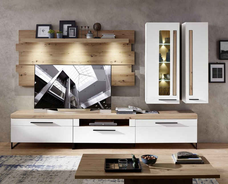 Innostyle Wohnwand »Loft Two«, (5-St), inkl. LED-Beleuchtung