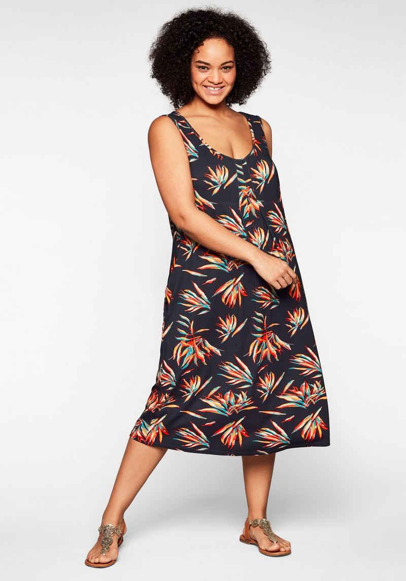 Sheego Strandkleid in ärmelloser Form, mit Faltendetails
