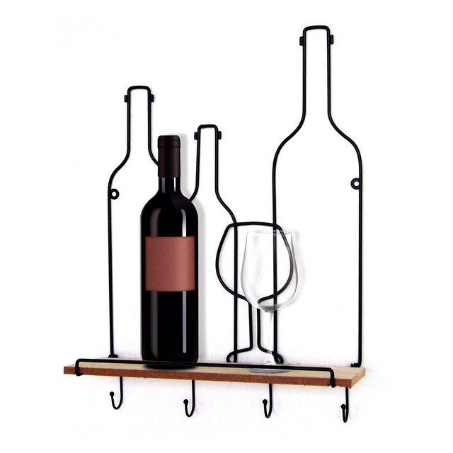 Küchenregale - HTI Line Wandregal »Wandboard Vino Viola«, Wandboard  - Onlineshop OTTO
