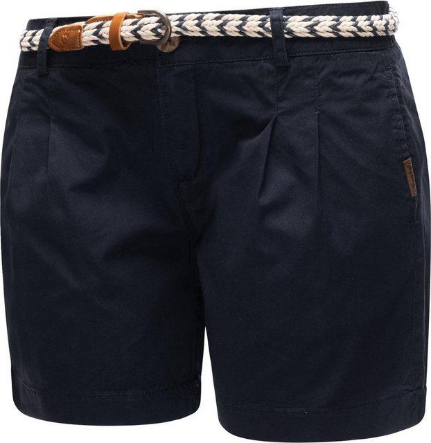 Hosen - Ragwear Shorts »Tetto Organic« (2 tlg) leichte kurze Baumwollhose mit modischem Flechtgürtel › blau  - Onlineshop OTTO
