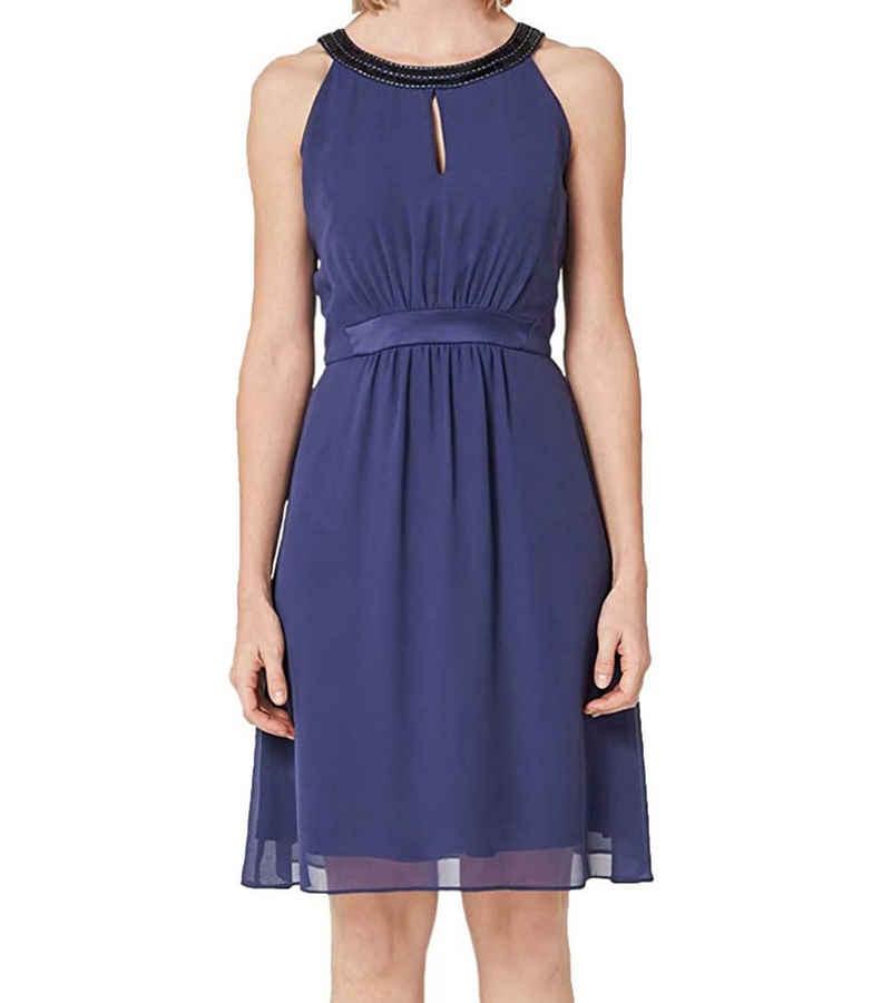 s.Oliver Sommerkleid »s.Oliver Black Label Abend-Kleid elegantes Damen Ausgeh-Kleid mit Pailletten- und Perlen-Besatz Mode-Kleid Blau«