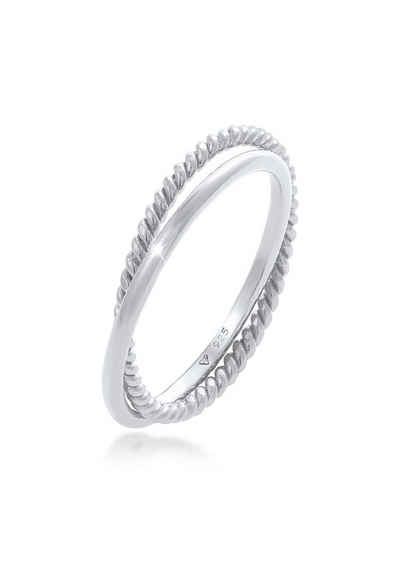 Elli Fingerring »Wickelring Klassik Fein Gedreht 925 Silber«