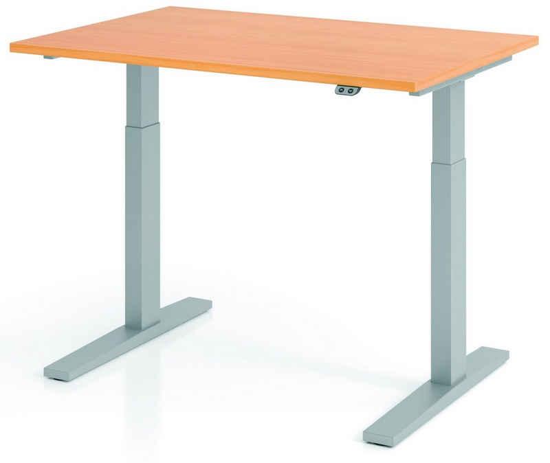 bümö Schreibtisch »OM-XMKA12«, elektrisch höhenverstellbar - Rechteck: 120x80 cm - Dekor: Buche