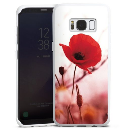 DeinDesign Handyhülle »Red Flowers« Samsung Galaxy S8, Hülle Blume Mohnblume Sommer