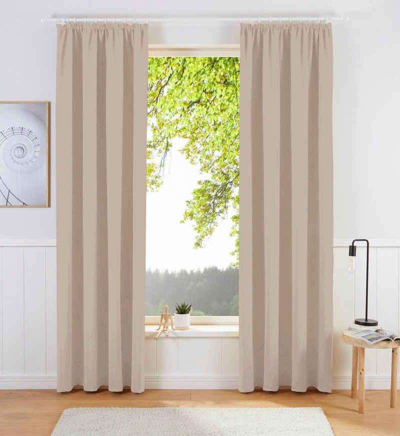 Verdunkelungsvorhang »Sola«, my home, Kräuselband (1 Stück), Breite 130 cm und 270 cm