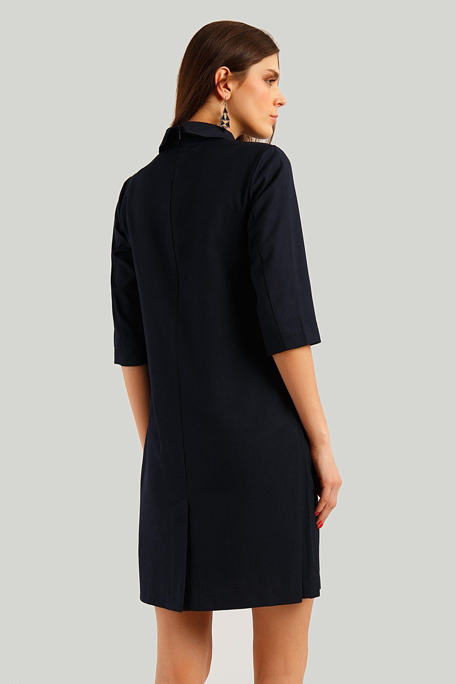 Finn Flare Jerseykleid mit halbem Arm, Einfarbiges Kleid mit zeitlosem Design von Finn Flare TDqxR3