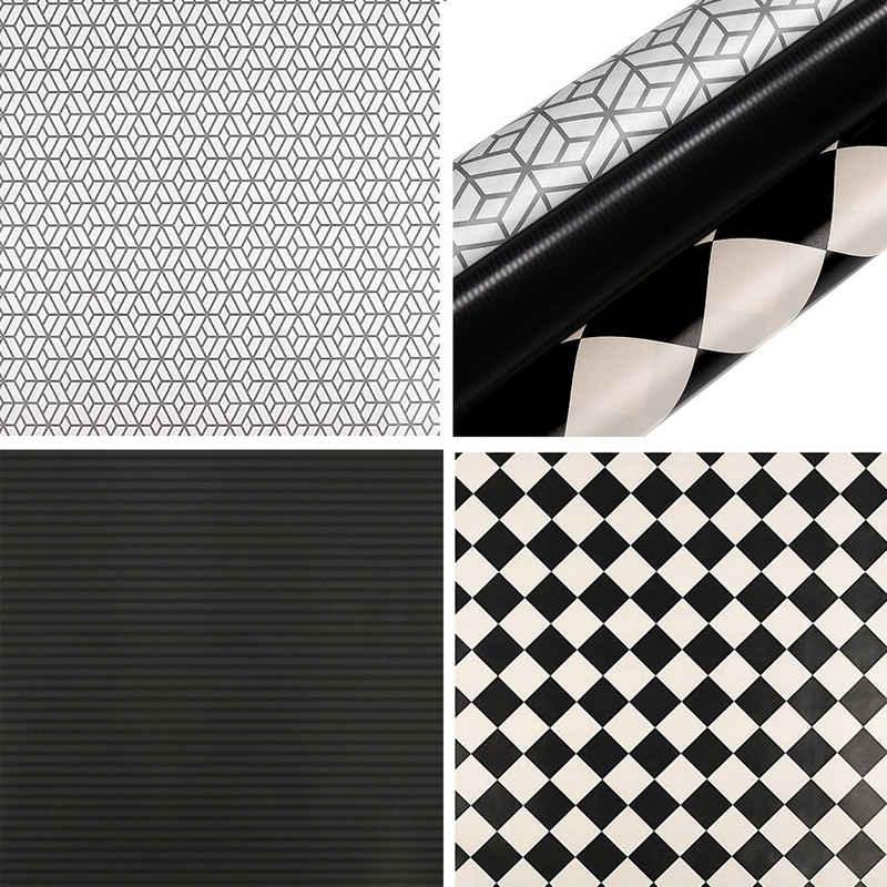 maDDma Geschenkpapier »3 Rollen Geschenkpapier Dekopapier Verpackungspapier Geschenkverpackung«, Elegante Muster