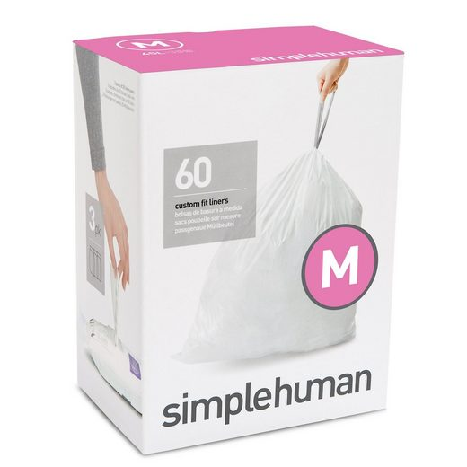 simplehuman Müllbeutel passgenaue Müllbeutel Nachfüllpack code M
