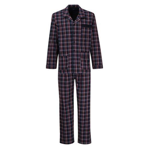 GÖTZBURG Shorty (1 tlg) Pyjama mit Knöpfen und Taschen