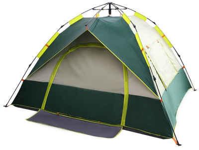RAIKOU Wurfzelt »outdoor Trekkingzelte Comping Festival Pop Up Zelt«, Personen: 2 (Maße:220x190x135cm, 3 Fenster), verhindert ultraviolette, Sonnenschutz, Wärmeisolierung