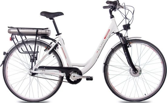 Chrisson E-Bike »E-Lady N7«, 7 Gang Shimano Nexus SG-C3000-7C Schaltwerk, Nabenschaltung, Frontmotor 250 W