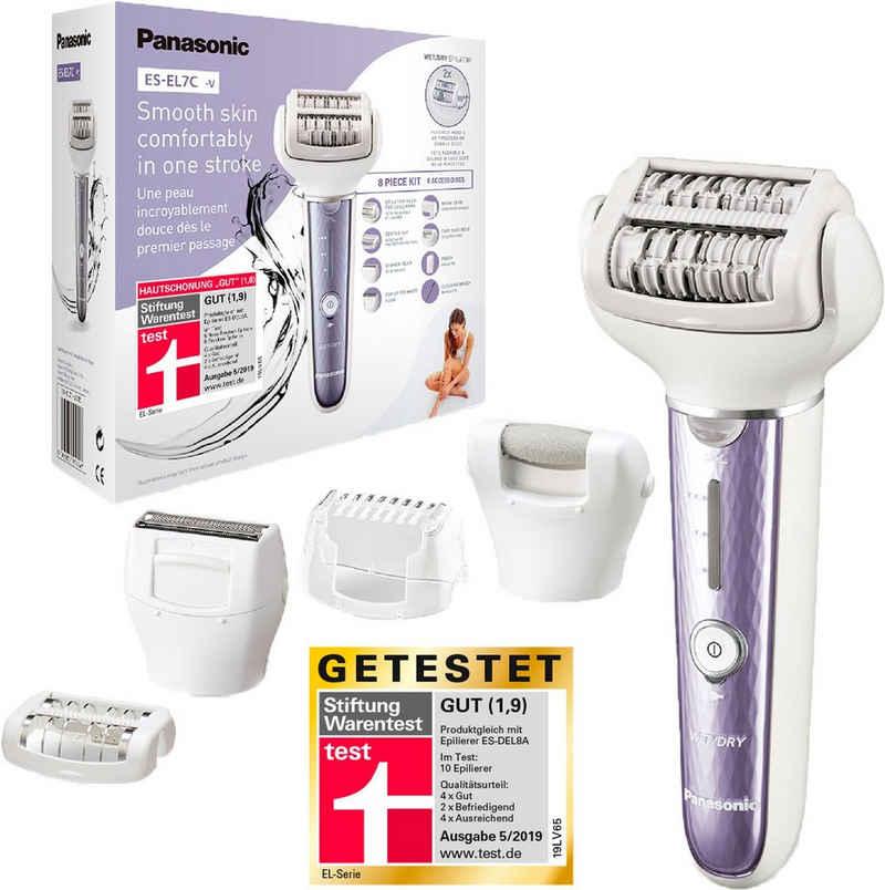 Panasonic Epilierer ES-EL7C-V503, Aufsätze: 5 St., Nass/Trocken, Aufsätze: 5 Stk., Peeling und Fußpflege