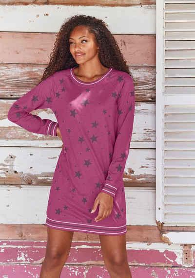 Vivance Dreams Sleepshirt mit angesagtem Sternedruck