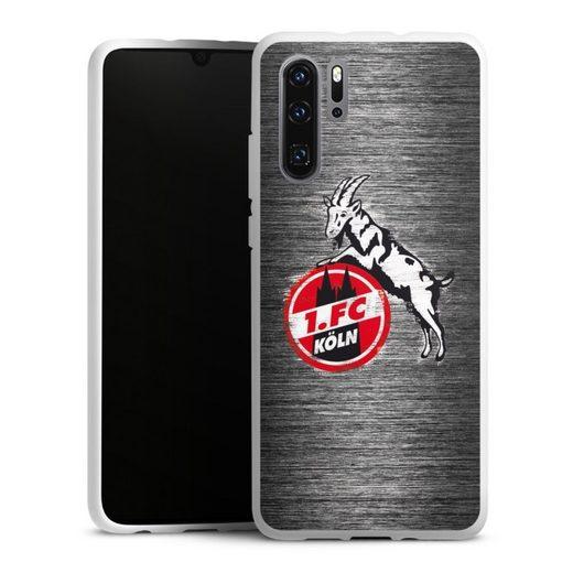DeinDesign Handyhülle »Metal Scratch 1.FC« Huawei P30 Pro New Edition, Hülle Fußball Metallic Look Offizielles Lizenzprodukt
