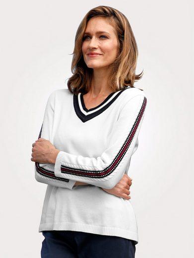 Mona Pullover mit Zopfmuster am Ärmel