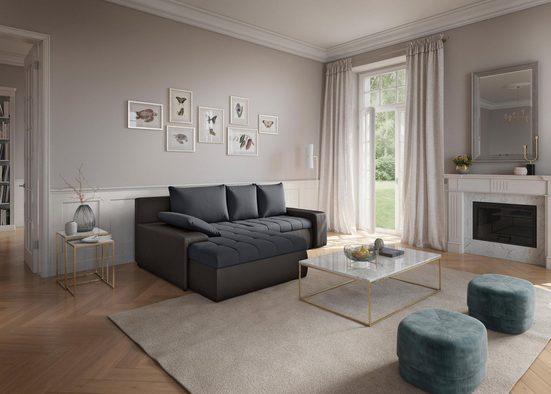 sit&more Ecksofa, inklusive Bettfunktion und Bettkasten, wahlweise in XL oder XXL