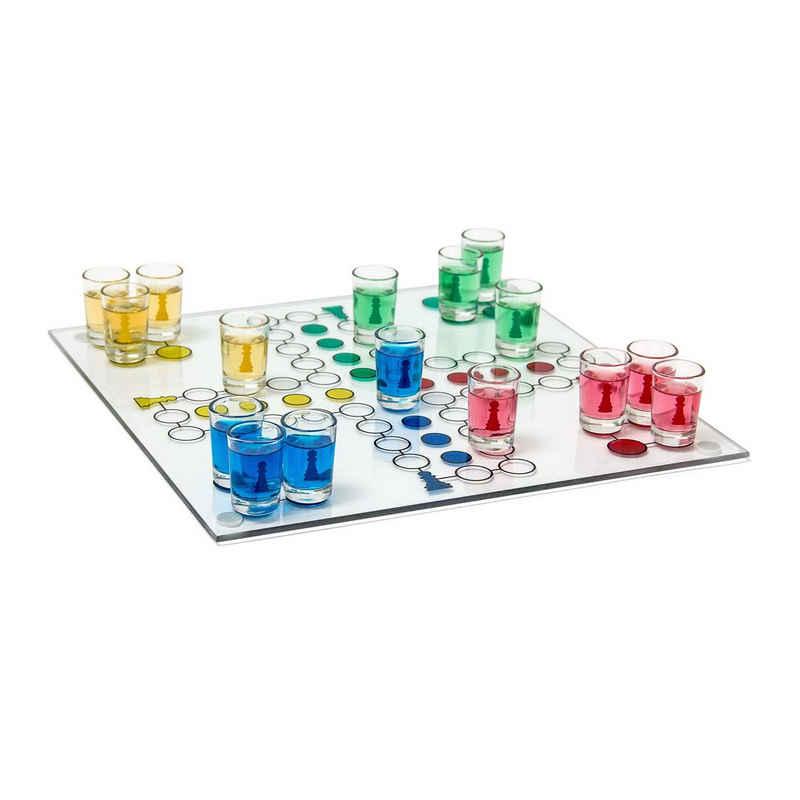 relaxdays Gläser-Set »Drinking Ludo Spiel«, Glas