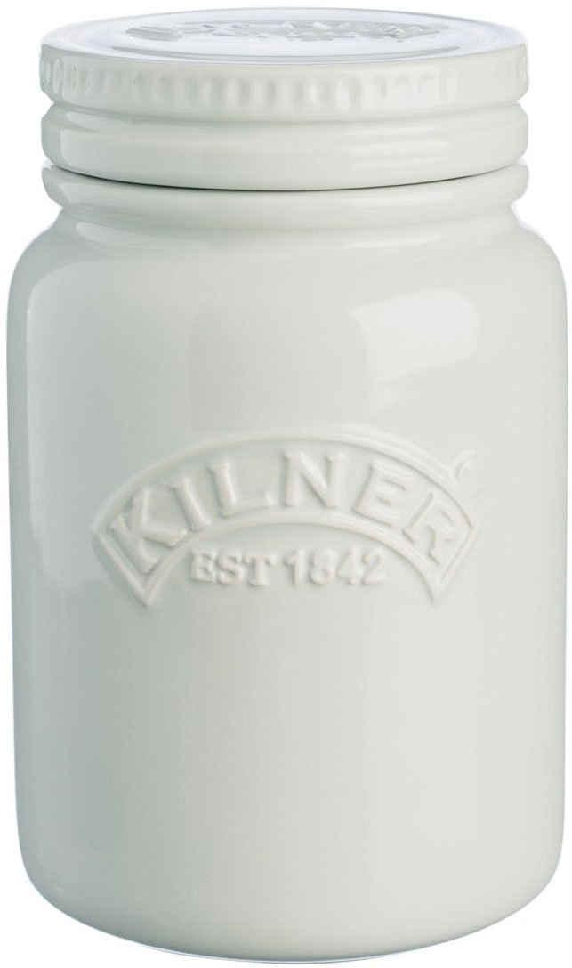 KILNER Vorratsglas »Keramikglas mondscheingrau, 0.6 Liter«, Keramik, (1-tlg), nicht spülmaschinengeeignet