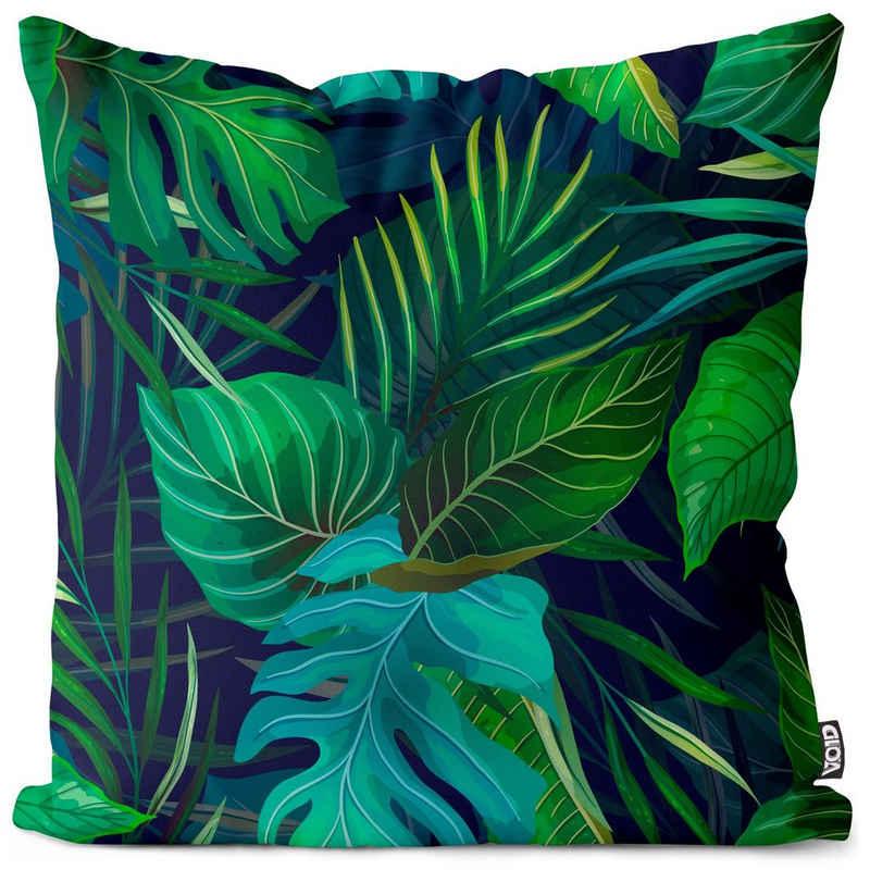 Kissenbezug, VOID (1 Stück), Flat Exotic Plants Kissenbezug muster exotisch floral palme Sommer Urwald Blatt