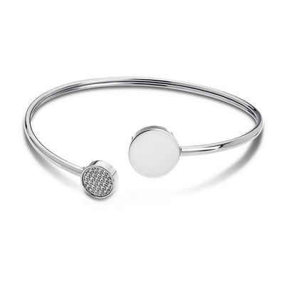 Lotus Style Armreif »JLS1819-2-1 Lotus Style Armband Armreif silber« (Armreifen), für Damen aus Edelstahl (Stainless Steel)