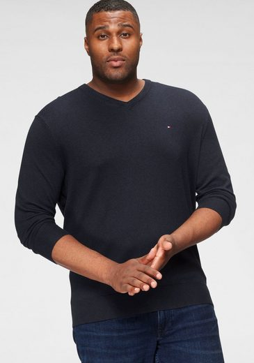 Tommy Hilfiger Big & Tall V-Ausschnitt-Pullover »BT-PIMA COTTON CASHMERE V NECK-B«