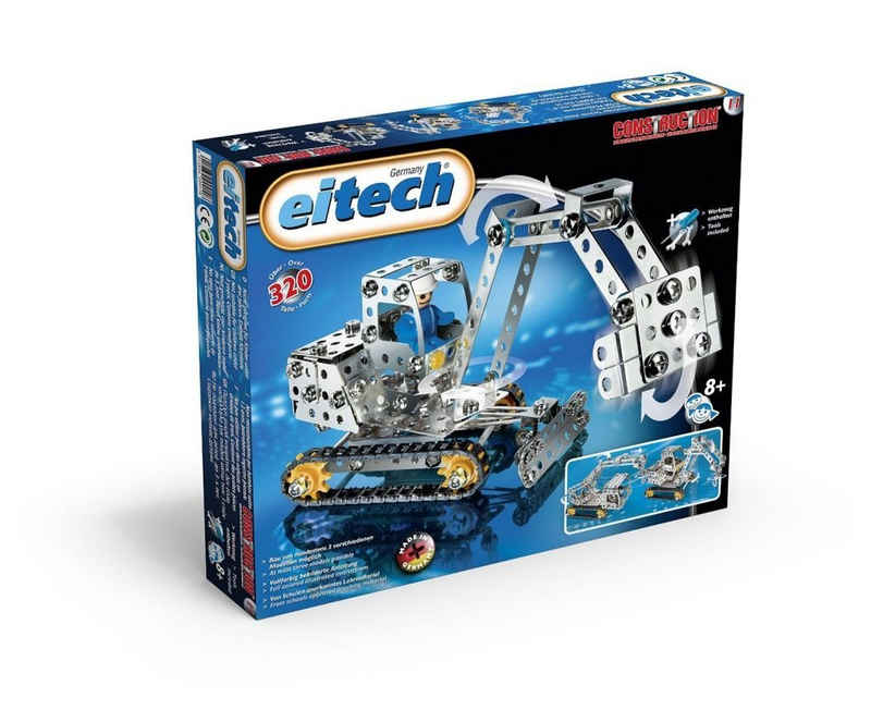 Eitech Metallbaukasten »Eitech 00011 - Metallbaukasten - Minibagger / Kran Set«