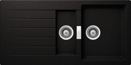 SCHOCK Granitspüle »Family Plus«, mit Restebecken, 100 x 50 cm