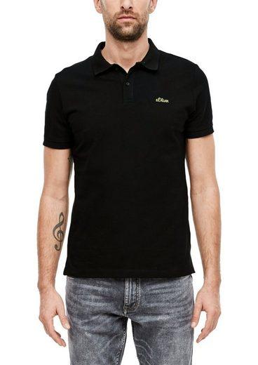 s.Oliver Poloshirt (1-tlg) mit Logo-Stickerei, Regular Fit, 1 Stück