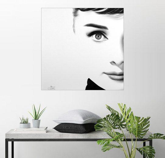 Posterlounge Wandbild, Halbes Porträt: Audrey Hepburn